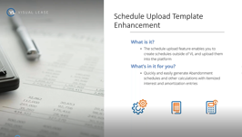 schedule upload enhancement